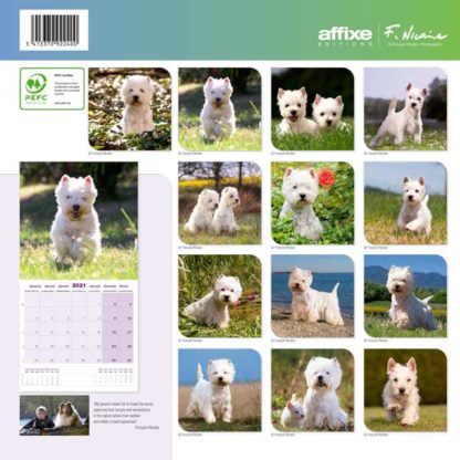 Calendrier West Highland White Terrier 2021